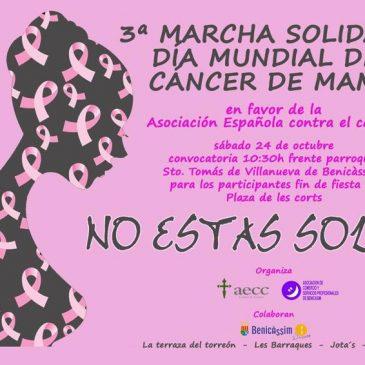 Benicàssim acoge la III Marcha solidaria del Día Mundial contra el Cáncer de Mama