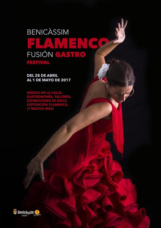 Cartel Benicàssim Flamenco Fusión Gastro Festival