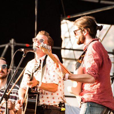 Hudson Taylor en un momento de su actuación en el escenario Las Palmas