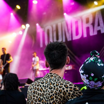 Momento en la actuación del grupo Toundra en el FIB 2018