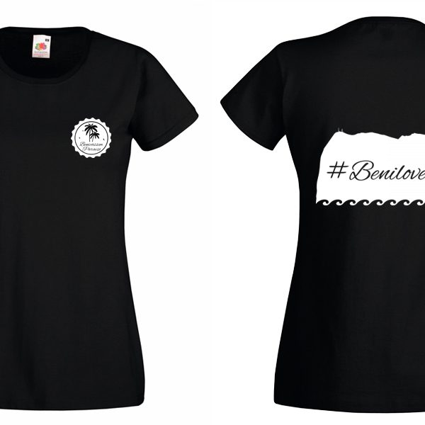Camiseta benilover negra con mangas