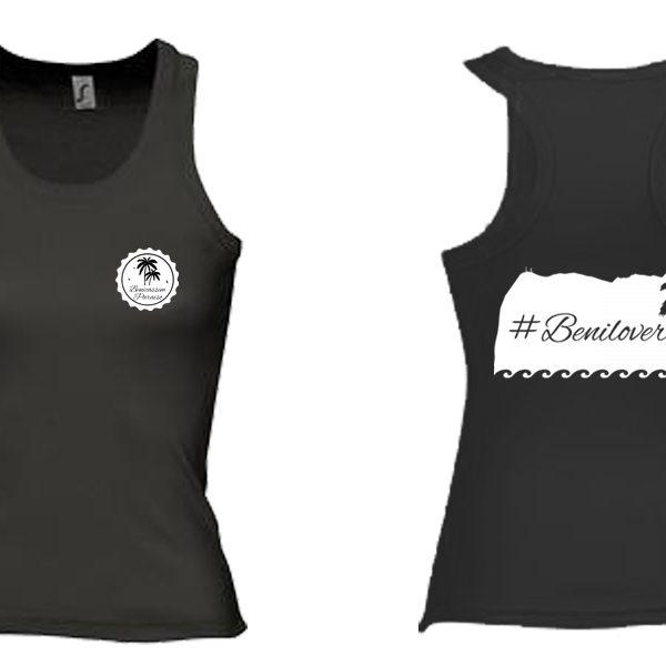 Camiseta benilover negra sin mangas