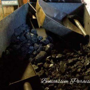 Carbón para las locomotoras a vapor