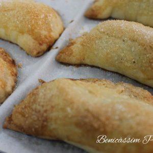 Pastelitos de cabello y boniato. Panadería José María en Benicàssim
