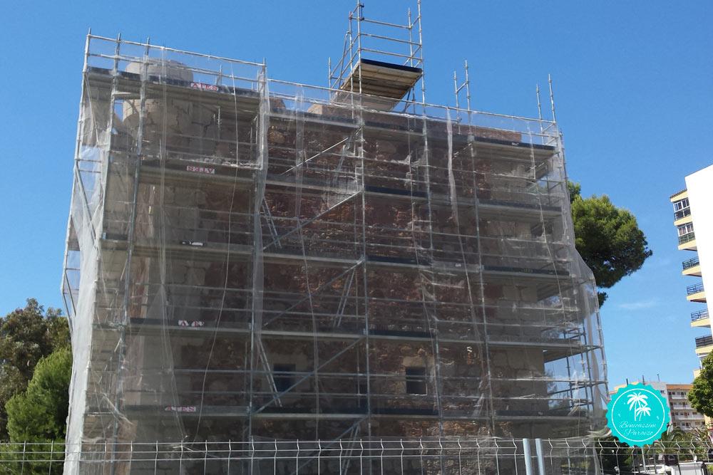 Obras restauración Torre San Vicente 2017