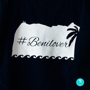 Camiseta negra benilover chica diseño espalda