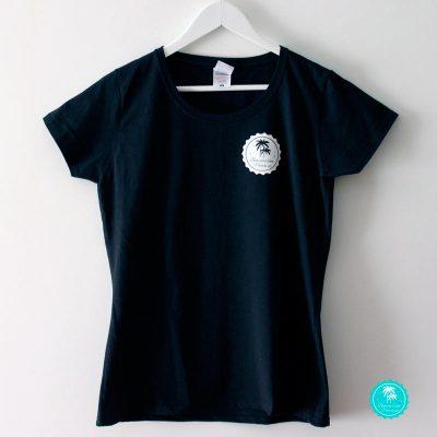 Camiseta negra benilover chica frontal