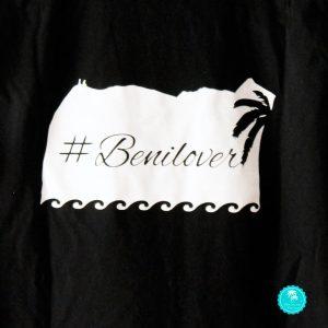 Camiseta negra benilover chico diseño espalda