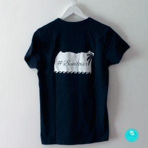 Camiseta negra benilover chico espalda