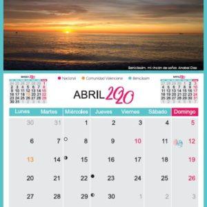 Calendario Benicàssim Paraíso 2020
