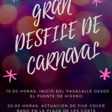 Benicàssim programa un gran desfile y música en directo para Carnaval