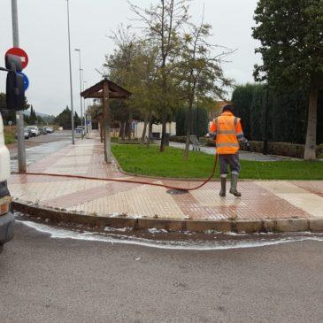 Benicàssim intensifica la limpieza y desinfección de las calles