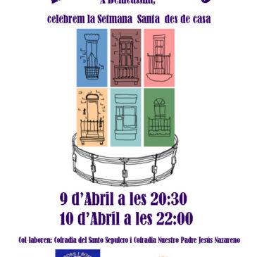 Benicàssim traslada el sonido de la Semana Santa a los balcones