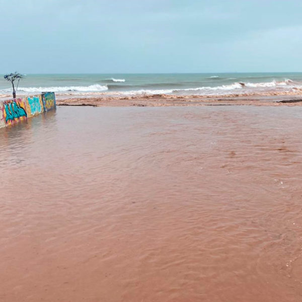 Temporal de lluvia y viento en Benicàssim