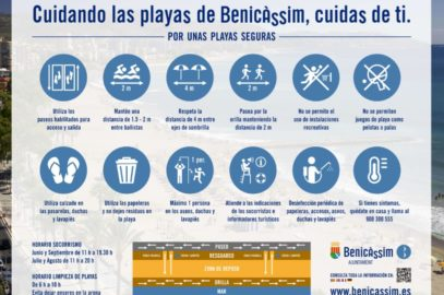 Medidas seguridad playas Benicàssim
