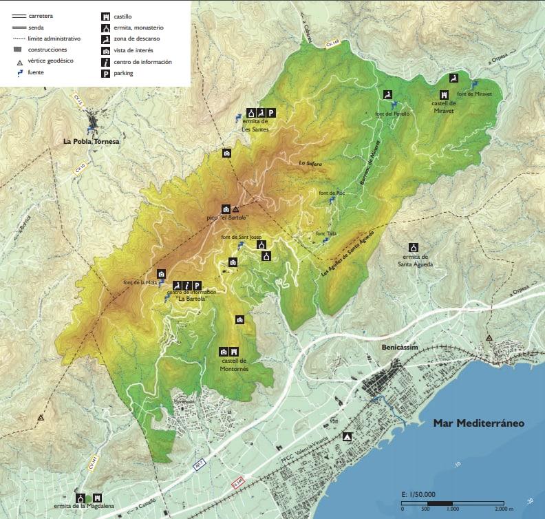 Mapa Desierto de las Palmas